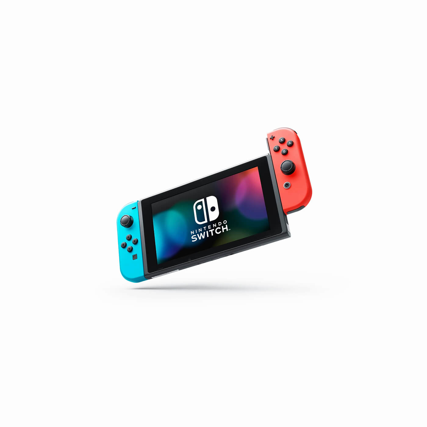 01.Nintendo Switch with Neon Blue and Neon Red Joy