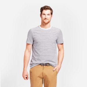 Standard Fit Short Sleeve Crew Striped T Shirt