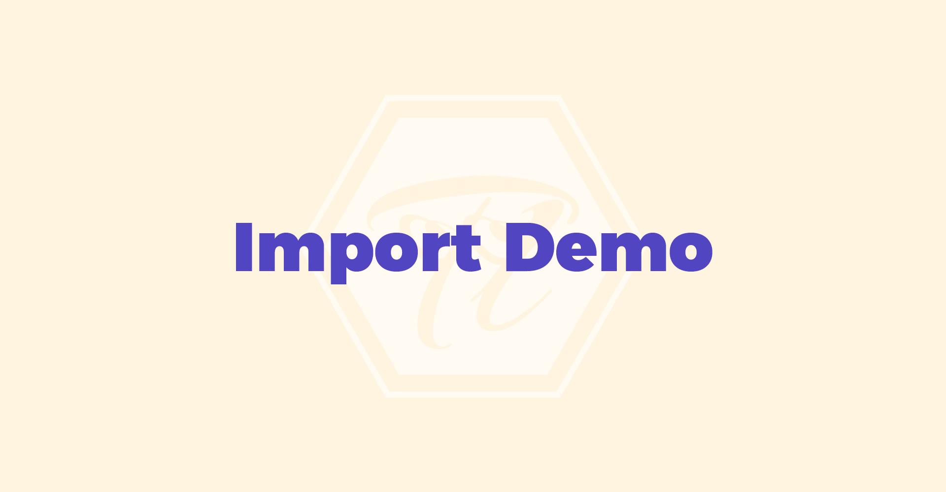 import_demo 1 1 1
