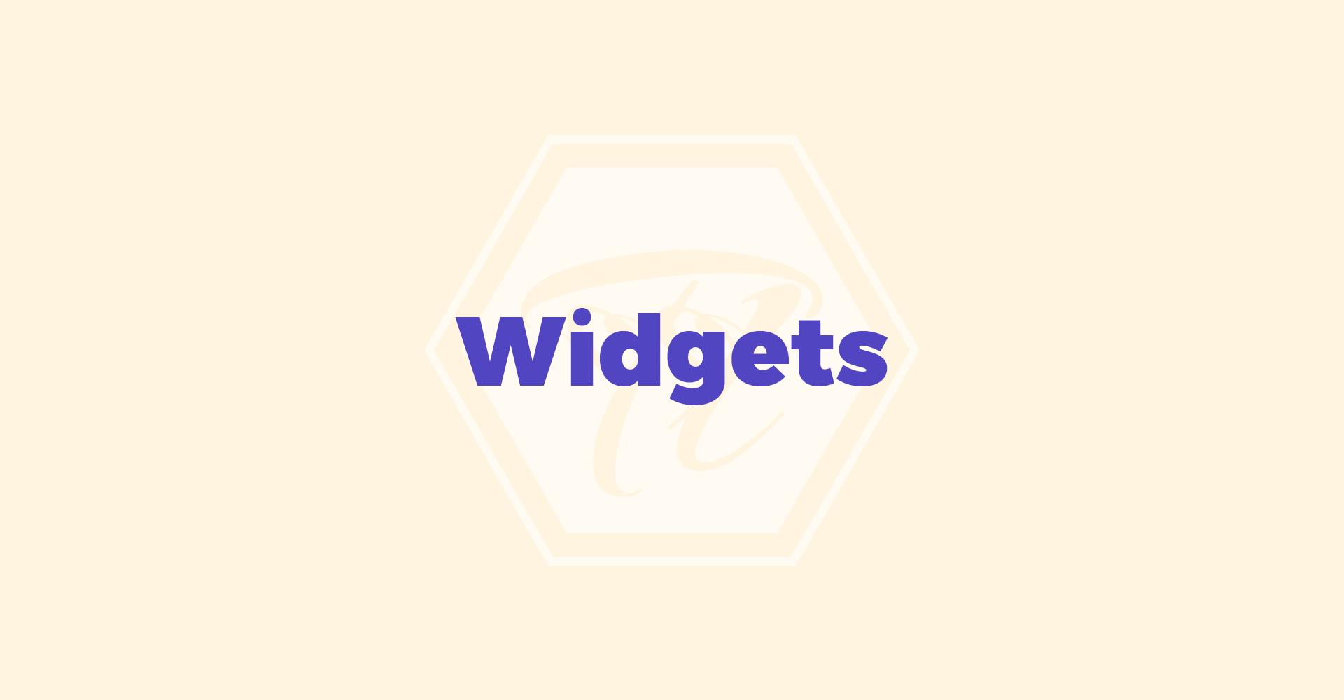 widgets 1 1